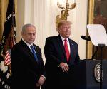 U.S. WASHINGTON D.C. TRUMP ISRAEL NETANYAHU PRESS CONFERENCE