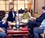Lord Tariq Ahmad of Wimbledon meets Union Minister Mukhtar Abbas Naqvi