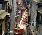 Residents evacuate Bowbazar as underground tunnelling work underway