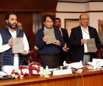 Suresh Prabhu releases NCCBM  - cement industry report