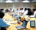 Manohar Parrikar during a meeting