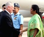 James Mattis arrives in Delhi for India-US 2+2 dialogue
