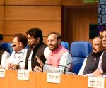 Prakash Javadekar, Babul Supriyo at press conference