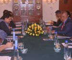 Piyush Goyal, Sri Lankan Finance Minister during bilateral meeting