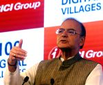 New Delhi : Arun Jaitley at the inauguration of 100 Digital Villages