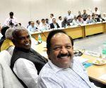 Harsh Vardhan during a meeting with Bihar CM