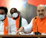 Union Home Minister Amith Shah  addresses road show and public meeting
