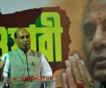 Rajnath Singh during an election campaign