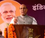 Rajnath Singh at the launch of India Post Payments Bank