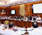 Rajnath Singh during a meeting with Field Level Officers to review BADP