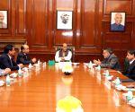 Rajnath Singh meets CMs of Meghalaya, Mizoram
