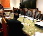 Rajnath Singh chairs a review meeting
