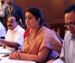 Smriti Irani during a meeting