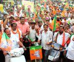 Sadananda Gowda campaigns for BJP