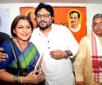 BJP leader Babul Supriyo at party office