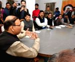 Jayant Sinha during a party meeting