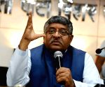 Ravi Shankar Prasad addresses BJP workers