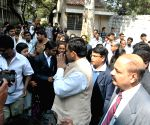 Union Minister Balram Naik unvieling Dr B.R Ambedker Statue