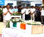 Pulwama militant attack - martyr Guru H's coffin