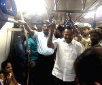 Sadananda Gowda takes a metro ride