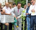Harsh Vardhan plants a sapling in memory of Dave