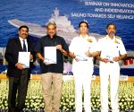 "Manohar Parrikar at a seminar on the ""Innovation and Indigenisation - Sailing towards Self Reliance"""