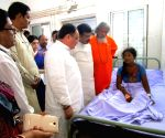 Nadda meets victims of SUM Hospital fire tragedy