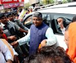Ravi Shankar Prasad arrives at Patna Airport