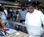 "Ravi Shankar Prasad visits ""Philately Exhibition on Bapu"