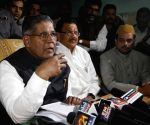 Union Minister for Minority Affairs K. Rahman Khan addresses press