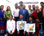 Khelo India School Games 2018 participants meet Harsh Vardhan