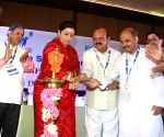 Smriti Irani at the inauguration of the National Conference on Making India a Global Hub for Higher Education