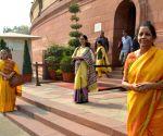 Nirmala Siatharaman, Jaya Bachchan at Parliament
