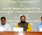 Javadekar's press conference on post-Paris agreement