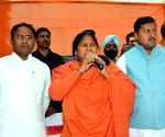 Sadhvi Niranjan Jyoti during an election campaign