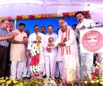 Bandaru Dattatreya during foundation stone laying programme of an ESIC Hospital
