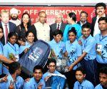 Vijay Goel send-off team of Special Olympics Bharat for World Winter Games 2017