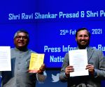 Union Minister Ravi Shankar Prasad and Prakash Javadekar addressed a press conference in New Delhi on Thursday 25th February, 2021.