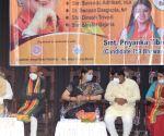 Kolkata : Union Minister Smirti Irani, West Bengal BJP State President Sukanta Mojumder and BJP candidate of Bhawanipur constituency by-poll Priyanka Tibrewal during election campaign in Kolkata on Sep 24, 2021