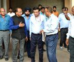 Vijay Goel inspects Jawaharlal Nehru Stadium