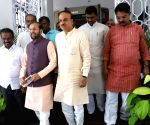 BJP leaders after meeting Chief Electoral Officer