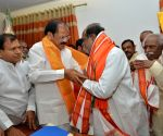 Venkaiah Naidu and Bandaru Dattatreya during a BJP programme