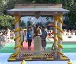 Tributes paid to Mahatma Gandhi at Gandhi Smriti