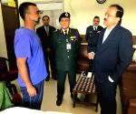 Subhash Bhamre visits Wing Commander Abhinandan in hospital