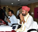 G. Kishan Reddy meets Telangana Government officials