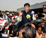 Nityanand Rai arrives at Patna Airport