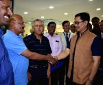 Kiren Rijiju interacts with students at Centre for Sports Science
