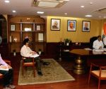 Dharmendra Pradhan holds discussion on third round of bidding for discovered oil and gas fields