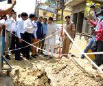 Piyush Goyal inspects development work