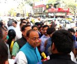 MCD Polls: Vijay Goel during Mohalla Sabha